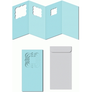 nested brackets windows card w envelope