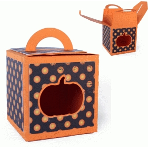 3d - handled box - pumpkin