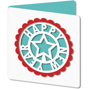 new year cutout star card