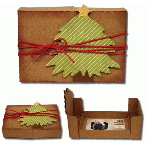 3d christmas tree gift card box