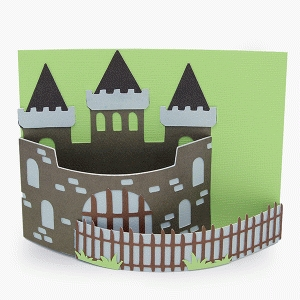 bendy card castle scene