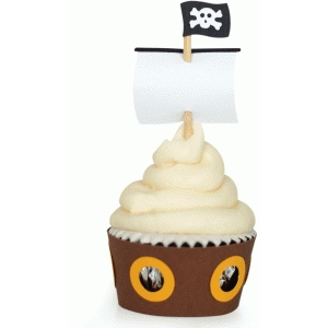 pirate ship cupcake wrapper