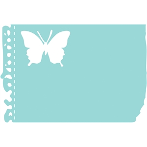 torn notebook butterfly
