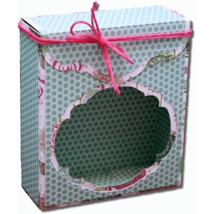 3d decorative window flap over gift box