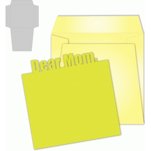 dear mom card/envelope