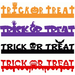 trick or treat borders set