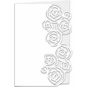 roses lace edged 7x5 card