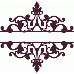 split flourish damask