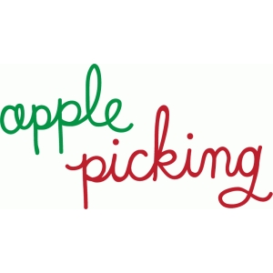 apple picking word art