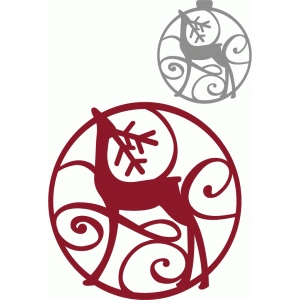 circle flourish standing reindeer ornament