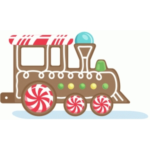 gingerbread train engine