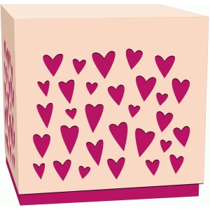 tiny hearts lidded treat box
