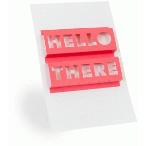 3d word art- hello there