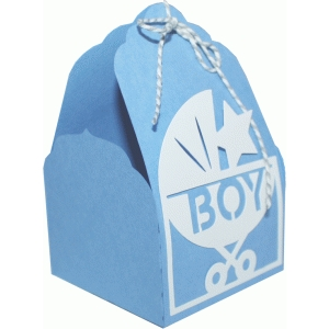 tag topper favor box - baby boy