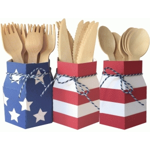 flag utensil holder