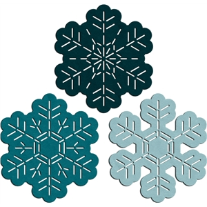 3 snowflake faux stitches - simple