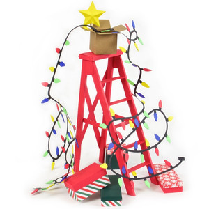 3d christmas ladder