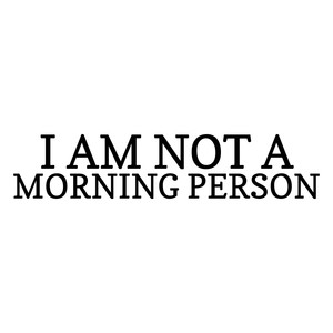 i am not a morning person quote