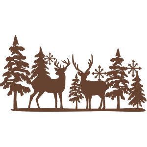 reindeer winter scene
