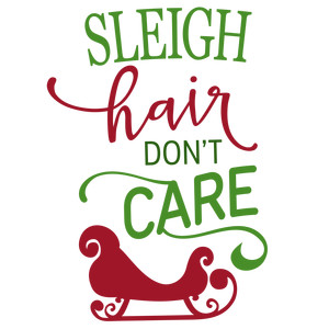 sleigh hair don't care phrase