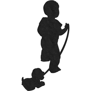 child pulling toy