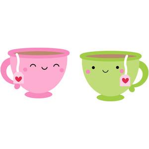 silhouette design store view design 175489 tea cups cream sugar