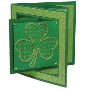 chevron clover window lever card