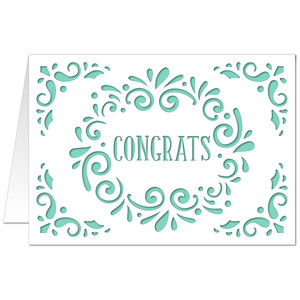 5x7 flourish card congrats