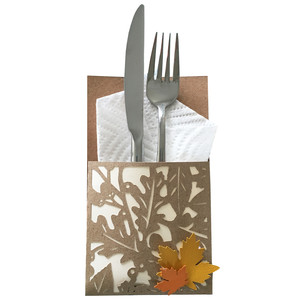 leaf utensil holder
