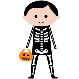 skeleton boy halloween night