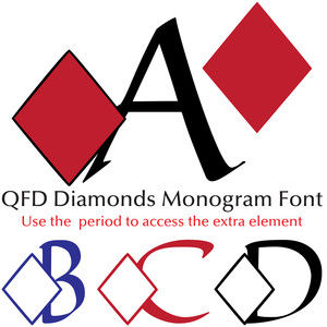 qfd diamonds monogram font