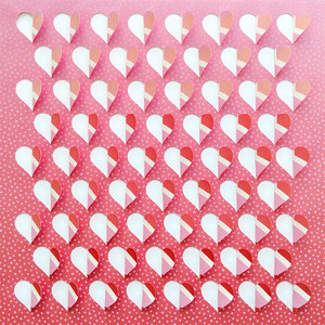 cut and fold hearts background