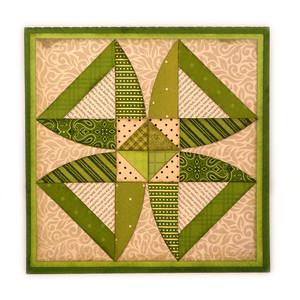 twisted blossom quilt block card