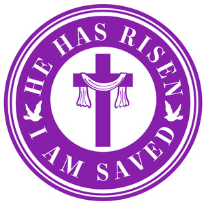 risen and saved label