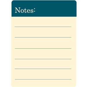 notes journaling card