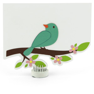 shaped card bird tree