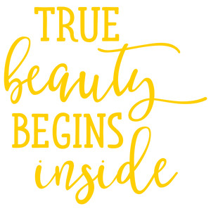 true beauty begins inside