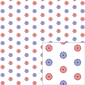 red and blue dot pattern