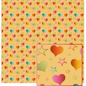 hearts and stars pattern