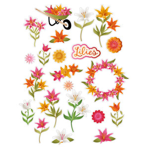 lots of lilies planner stickers