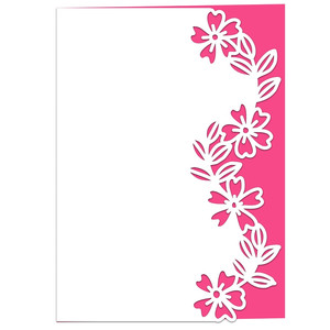 wild roses lace edged card
