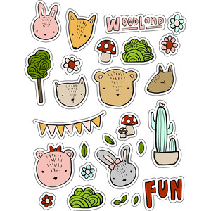 ml woodland cool stickers