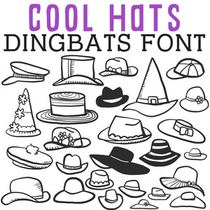 cg cool hats dingbats