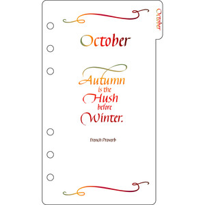 elegant planner a6 binder october divider