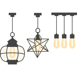 trio of light fixtures