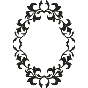 frame ornate oval