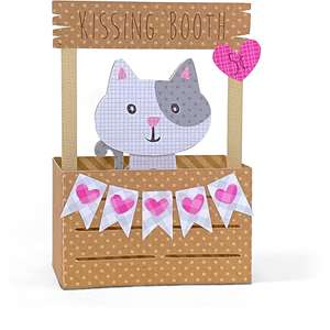 box card kissing booth cat