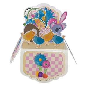 5x7 koala easter pop up card in a box