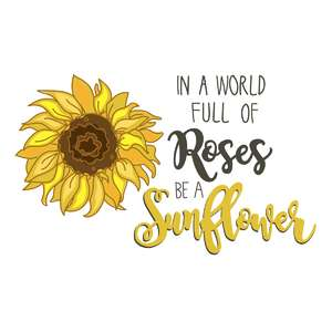 be a sunflower phrase