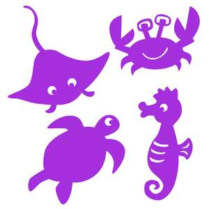 under the sea shadow puppet set